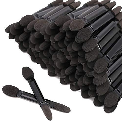 Fantasea Professioneller Lidschattenpinsel mit doppeltem Kopf, Kosmetik-Werkzeug, Einweg-Lidschatten-Schwammpinsel, Make-up-Applikator (100 Stück)