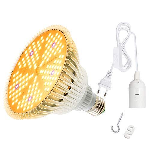 100W LED Pflanzenlampe,150 LEDs Vollspektrum Pflanzenlicht mit E27 Netzkabel , Achstumslampe ähnlich dem Sonnenlichts für Zimmerpflanzen,Gewächshaus,Hydroponische Pflanzen und Gemüse,Sämling, Blumen