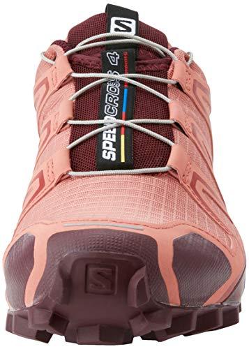 Salomon Speedcross 4 W, Zapatillas de Trail Running Mujer, Rojo (Brick Dust/Winetasting/Apple Butter), 39 1/3 EU