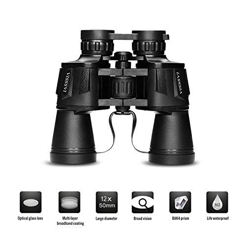 VISSSVI 12x50 High Power Binoculars for Adults, Compact HD...