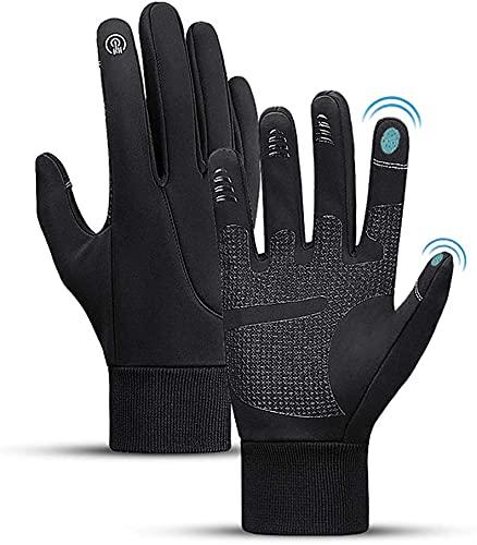 Guantes térmicos de invierno, guantes con pantalla táctil para hombres,mujeres,antideslizantes,impermeables,resistentes al viento,para ciclismo,correr,conducción,escalada y deportes al aire libre etc