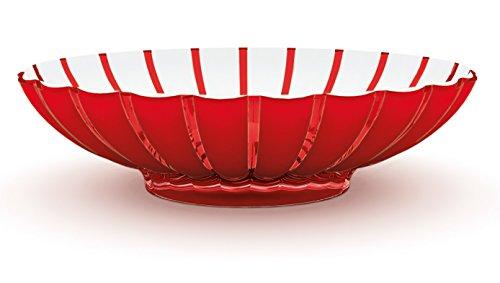 Guzzini Centrotavola/Fruttiera Grace, Rosso Chiaro, 30.5 x 37.5 x h9 cm