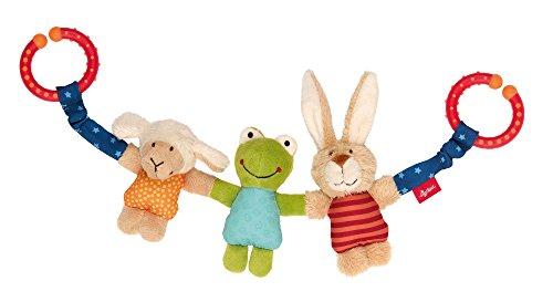 sigikid, Mädchen und Jungen, Wagenkette Hase-Frosch-Schaf, Mehrfarbig, 41438