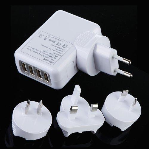 dodocool 4-Port AC Adapter USB US/EU/UK/AU caricabatterie da muro per iPhone 4/4S/5/5S iPad 2/3