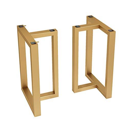 YXYXX patas industriales de mesa hierro,Bastidores para mesa hierro Caballetes para tablero,Dorado/Negro/dorado / 40×68 cm
