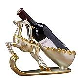 Fanuosuwr Carcasajero de Vino Práctico Estatua Hecha a Mano Inicio Retro Armario de Vino Artesanía artesanía Artesanal Ornamentos Escultura Resina Escultura Creativa Estante de Vino Regalo