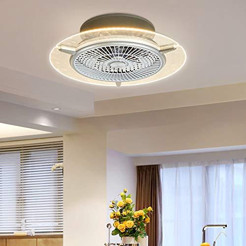 OUKANING Fan Deckenventilator mit beleuchtung und fernbedienung leise deckenventilator LED Deckenleuchte Dimmbar Schlafzimmer Lampe Büro Kinderzimmer Beleuchtung (48w)