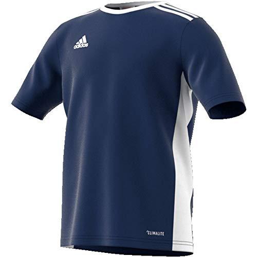 adidas Entrada 18 Jersey Camiseta, Unisex niños, Dark Blue/White, 152