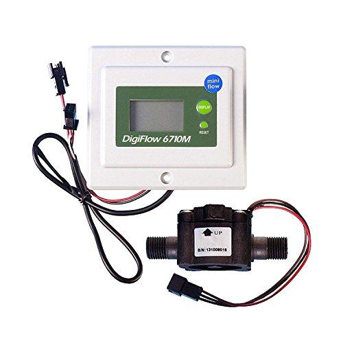 VYAIR DigiFlow 6710M-32TM Mini débitmètre numérique monté sur panneau 0,2 à 5 litres/minute avec connexions mâles BSP 0,6 cm