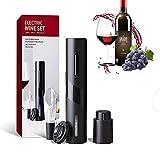 Tiamu - Apribottiglie elettrico automatico con tagliacapsule e versatore per vino con aeratore