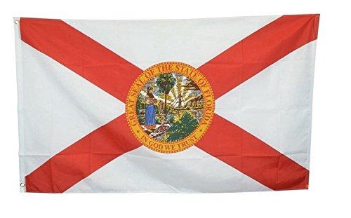 Naisidier Fahnen Flaggen 90 * 150cm Florida Flag Flagge der Vereinigten Staaten von Amerika Nationalflagge Nationalfahne Staatsflagge/Landesflagge/Hissflagge