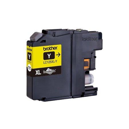 Originale Brother LC-125 XLY gelb Tintenpatrone mit einer Kapazität von ca. 1.200 Seiten bei 5% Deckung für Brother MFC-J 4510 DW, MFC-J 4610 DW, MFC-J 4410 DW
