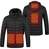 Elektrische Beheizte Jacken Herren Beheizte Jacke USB Beheizte Kleidung Winter Warme Leichte Hoodie Daunenjacke Mantel for outdoor work and daily wear (Paket Nicht enthalten Power Bank) (L)