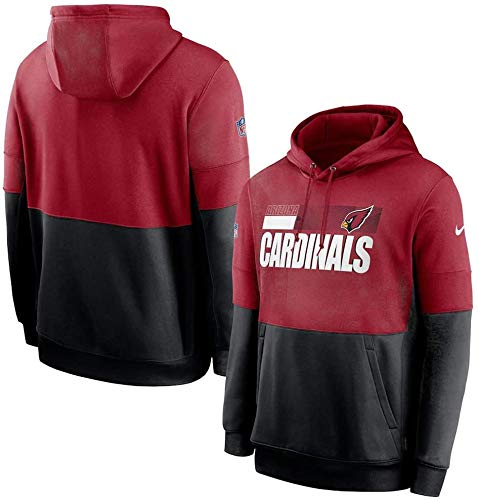 ZQN Herren Pullover NFL Arizona Cardinals American Football Team Uniform PulloverHoodies, Langarm-Sweatshirt Männer Rugby Kapuzenpullover,L
