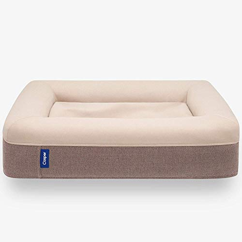 Casper Dog Bed, Plush Memory Foam, Large, Sand