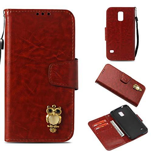 Luckyandery Galaxy S5 wallet case,Galaxy S5 Case Flip Case, Book Cover Card&Cash Slots Kickstand Magnetic Closure Samsung Galaxy S5
