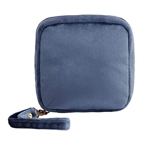 Tragbare Quadratische Damen Damenbinden Aufbewahrungstasche Münze Schmuck Organizer Tasche - Sternenhimmelblau