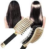 Peine de masaje para el cuero cabelludo, cepillo de pelo de nailon con cerdas para mujer, cepillo de pelo para desenredar rizado, seco y húmedo, herramienta de peluquería para peluquería