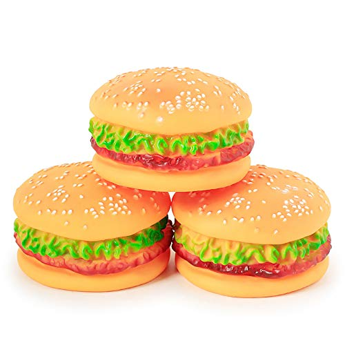 NA 3 pz Cane Squeak Giocattoli Lattice Gomma Squeeze Giocattoli Squeaky forma Burger giocattolo interattivo per cani