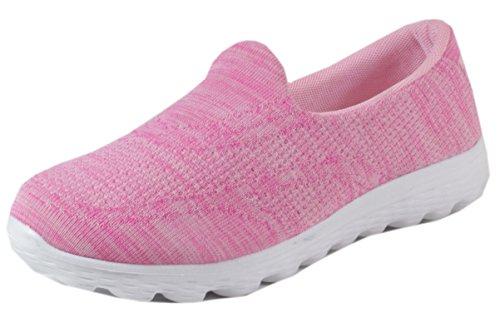 Azax - Laufschuhe Damen bunter Mesh Gewebe Atmungsaktiv Turnschuhe Schuhe Sportschuhe Runner Fitness Training Jogging Cross 36 37 38 39 40 41