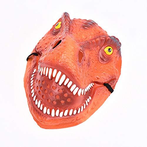 ToDIDAF Halloween Maske Dinosaurier-Gesichtsmaske Gruseliger Horror Silikon Scary Toy Cosplay Halloween Kostüm Requisiten für Karneval Maskerade Party Dekoration (Rot)