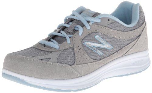 New Balance Women's 877 V1 Walking Shoe, Silver, 9 Narrow