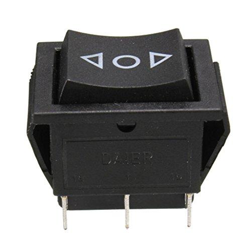 IPOTCH 1 X Interruptor Basculante Corto de Ventana Eléctrica Dpdt de 6 Polos Ac 250V / 10A 125V / 15A