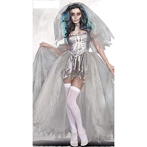 Cosplay Set di Halloween Abito da Sposa Ghostly Costume Vampiro Coppia Cosplay Outfit for Le Donne - Tipo 2 Large Size WKY (Dimensioni: L) plm46 (Size : Free Size)