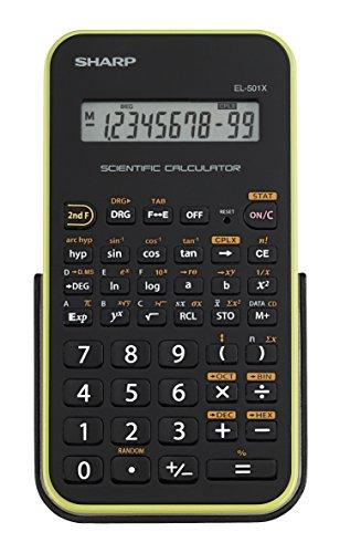 Sharp EL-501XBGR Scientific Calculator (Renewed)