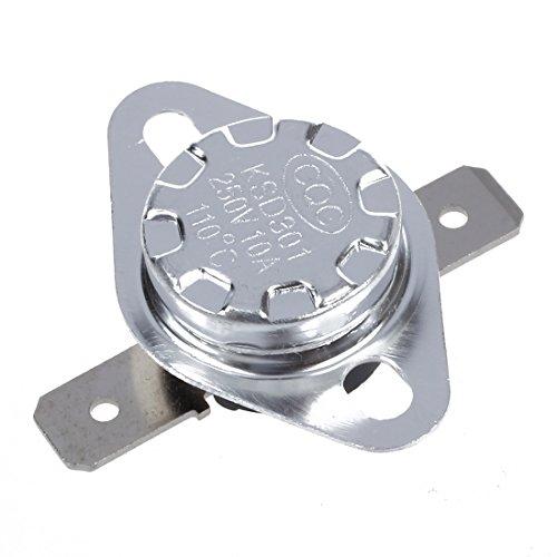 KU Syang 2pzs 110 Celsius N.C. Interruptor controlado temperatura por termostato KSD301