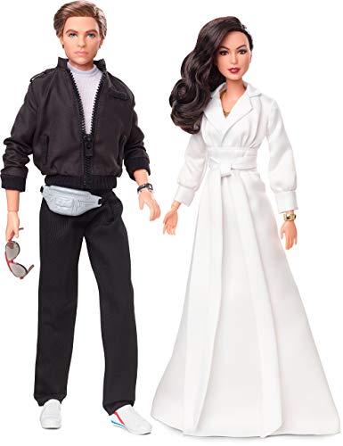 Barbie Collector Wonder Woman 1984, Geschenkset mit 2 Puppen, Diana Prince-Puppe in Abendrobe und Steve Trevor-Puppe im Anzug, mit Accessoires und Puppenständer