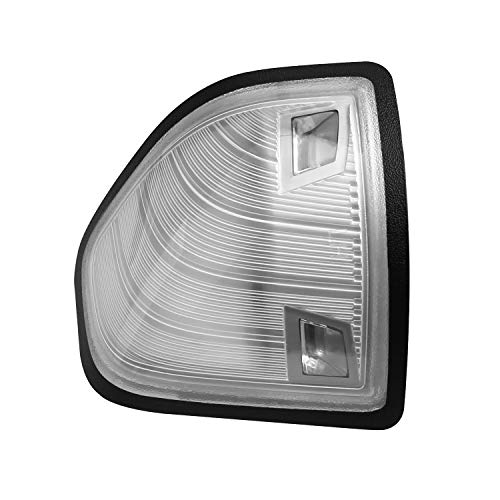 HERCOO LED Side Mirror Turn Signal Light Left Lamps Black Edge Cover Lens for 68302828AA 68302829AA Compatible with 2010-2018 Dodge Ram 1500 2500 3500 4500 5500, Pack of 1