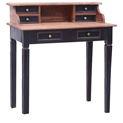 vidaXL Writing Desk with Drawers Durable Secretary Computer Wooden French Desk Secretaries Furniture...