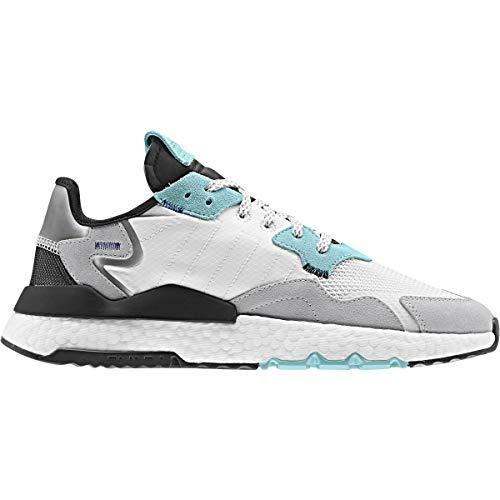 adidas Hombre Nite Jogger Zapatillas Blanco, 43 1/3