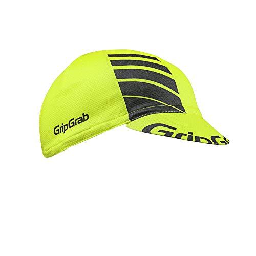 GripGrab Unisex Erwachsene Gripgrab Leichte Sommer Cap Headwear Cycling, Gelb Hi-Vis, Onesize 54-63 cm EU