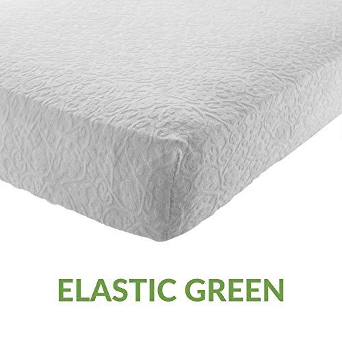 Evergreenweb-matrasbeschermer, waterdicht, van zacht katoen, 100% natuurlijk, elastische hoeken, antibacteriële bescherming voor matras met nieuwe behandeling, ademende stof, wit