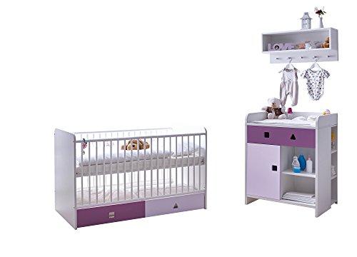 Ticaa Babyzimmer 3 teilig Cubo MDF