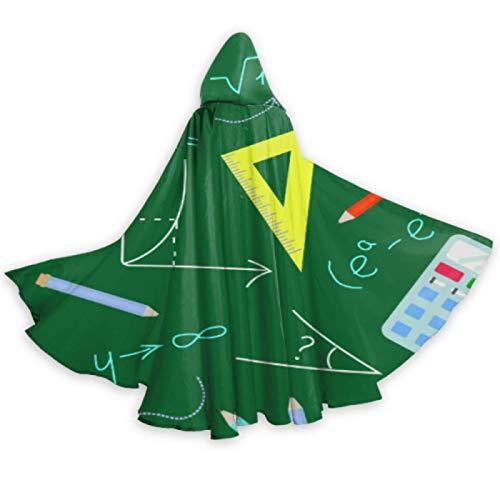 AQQA Capa de Herramienta de calculadora Digital Creativa nica con Capucha Capa de Capa para nios de 59 Pulgadas para Disfraces de Cosplay de Halloween de Navidad