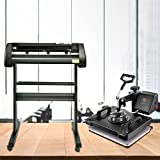 """VEVOR Máquina de transferencia de prensa de calor 5 en 1 de 12 x 15 pulgadas con cortador de vinilo de 28""""Kit de máquina de plotter Art Craft Impresora de sublimación (28"""" / 720 mm)"""