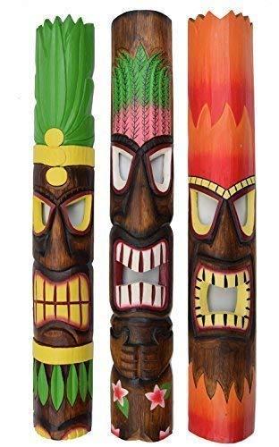 3 Tiki Maskers 100cm in Tiki Hawaii stijl masker muur masker