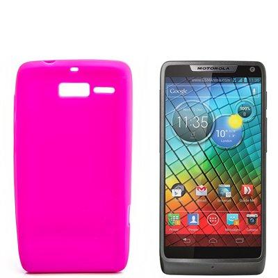 numerva Schutzhülle kompatibel mit Motorola RAZR i Hülle Silikon Handyhülle für Motorola RAZR i (XT890) Case [Pink]