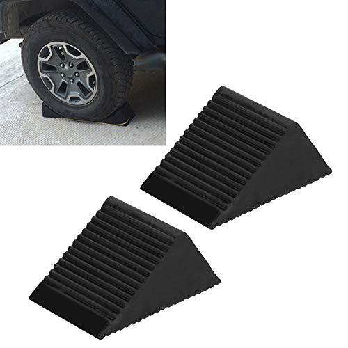Jopwkuin Calzo para Rueda de Coche Calzo Fuerte para Rueda de Garaje, para automóviles, para estacionamiento para Cambiar Ruedas para Camiones,