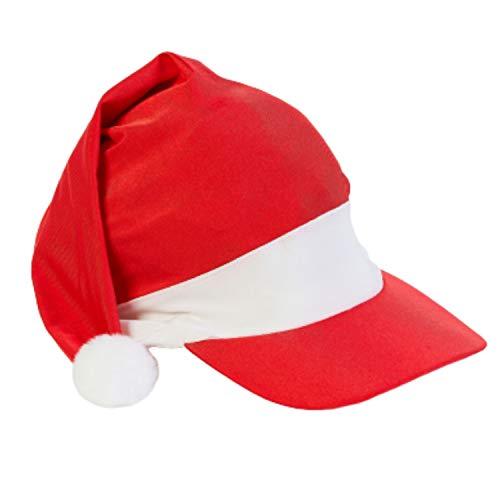Strandmütze, Weihnachtsmannmütze für warmes Wetter – LSF 50+ Sonnenschutz und schnell trocknendes Lycra Feiern Sie in der Sonne am Strand, Pool oder Grill, Rot/Weiß
