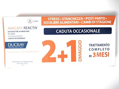 Anacaps - Ducray Tratamiento Reactiv de 60+ 30 comprimidos para la caída ocasional del cabello