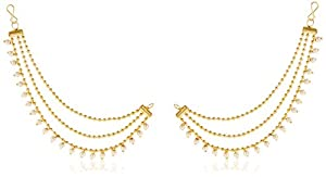 Mithya Gold Plated Drop Earrings for Women (Brown)(AAA2226_Brown)