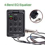 Ecualizador piezoeléctrico de 4 bandas EQ Sistema de preamplificadores de guitarra acústica activo a bordo fonocaptor sistema