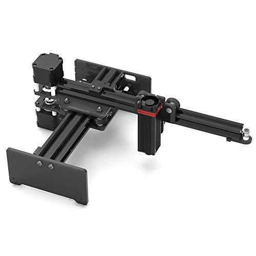 Baugger Grabador de escritorio de 20 W Grabado portátil Máquina de talla Mini Carver DIY Impresora de marca de logotipo para grabado de metal y grabado de madera profunda y corte rápido
