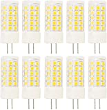 10X G4 Ampoule LED 5W Lampes LED 44 SMD 2835LEDs Blanc chaud 350LM Super Bright LED Light AC220-240V LED à économie d'énergie
