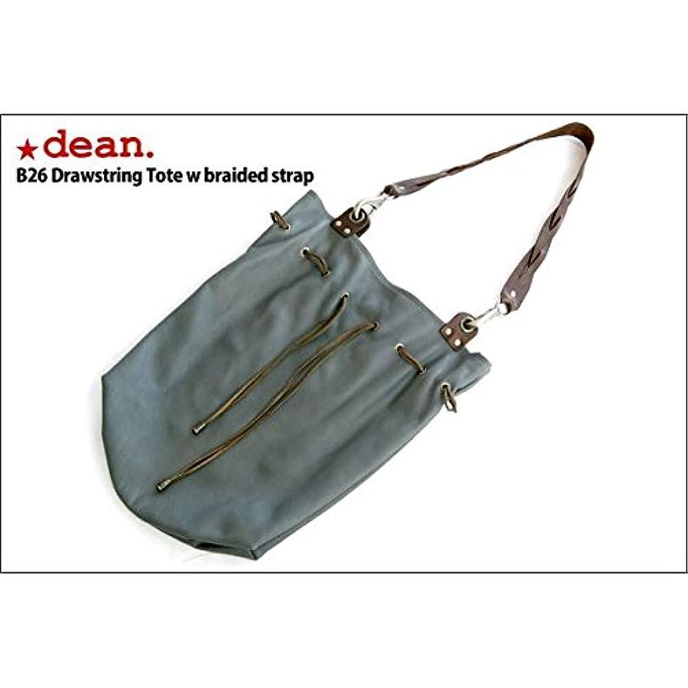 接続されたクライストチャーチ桁dean(ディーン) drawing tote w braided strap レザーバッグ グレー ハンドル/茶