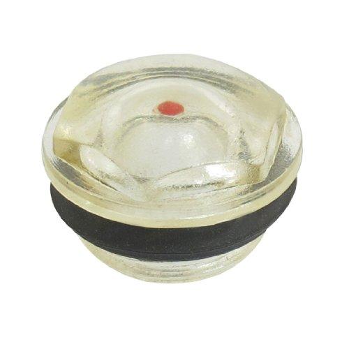 sourcingmap Riparazione Maschio 20 millimetri filo di plastica compressore d'aria del livello per dell olio vetro di vista